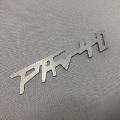 Schriftzug PAV 40 - Aluminium